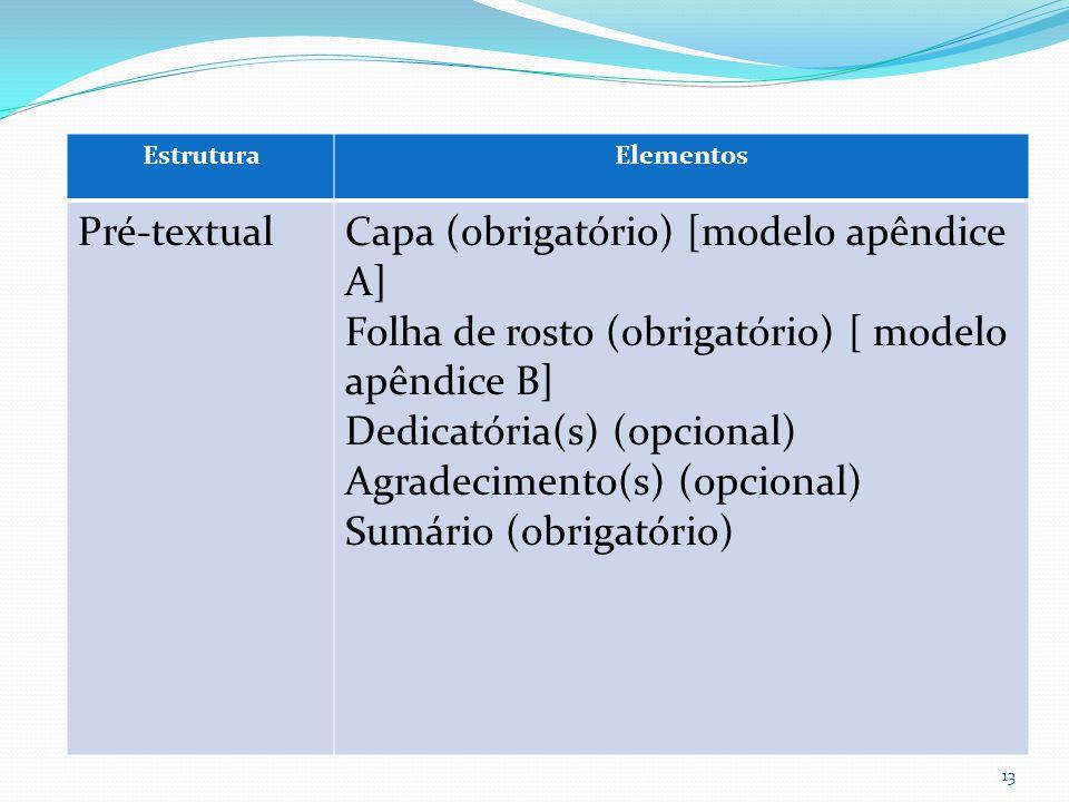 Capa (obrigatório) [modelo apêndice A]